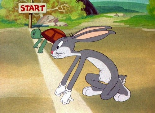 bugs bunny, tortoise, hare, Toby Elwin, blog