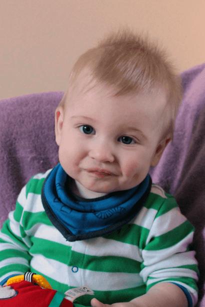 Pouting baby photo