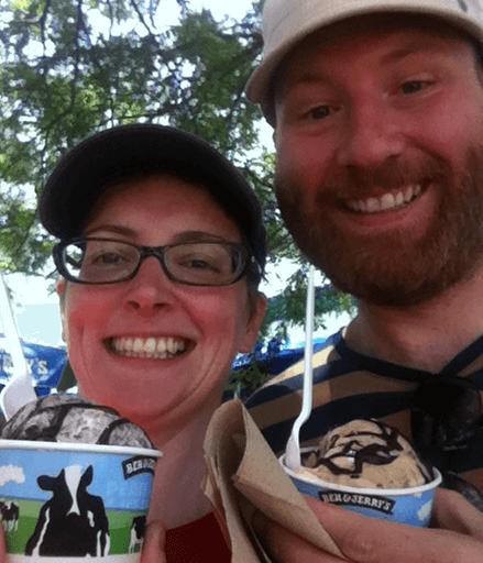 Mum & Dad enjoying ice cream