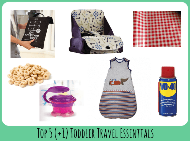 Top 5 Toddler travel essentials