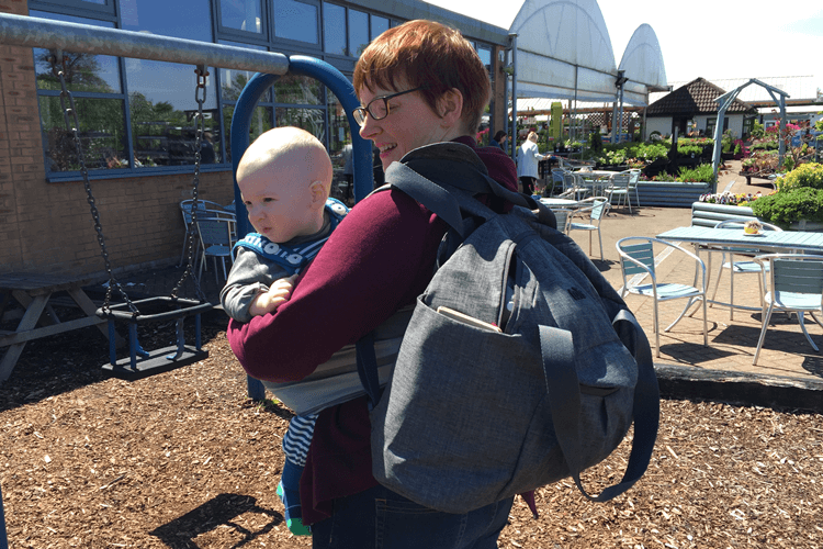 Voyage changing bag for babywearing
