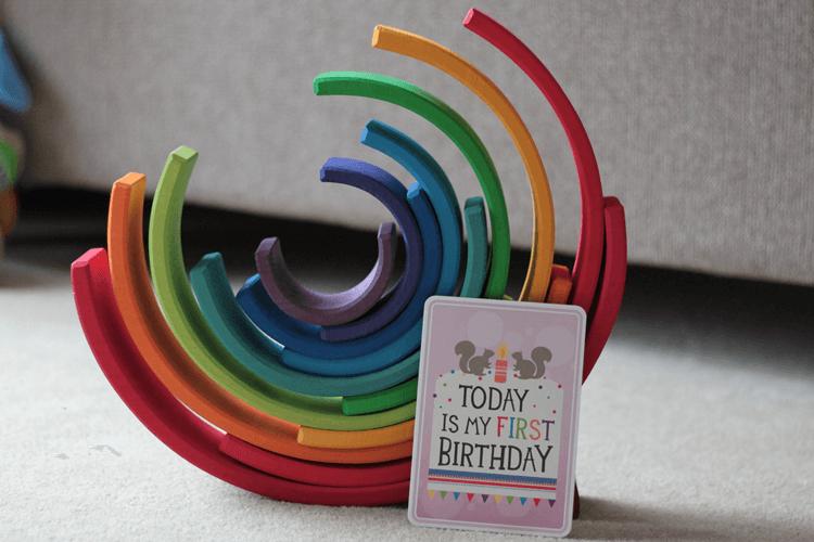 First birthday Grimm's rainbow