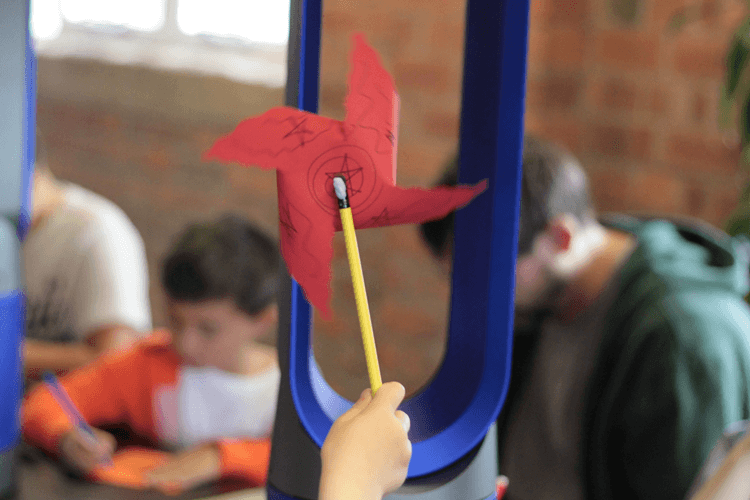Toby's pinwheel and the Dyson Pure Cool Link Tower Air Purifier