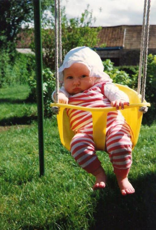 Sarah from Whimsical Mumblings as a baby