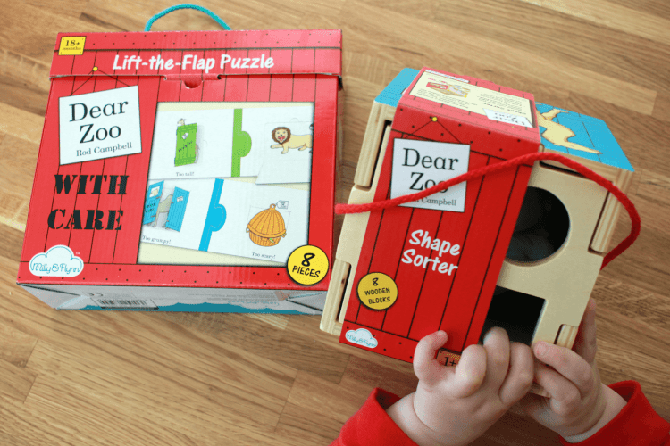 Dear Zoo shape sorter and puzzle from Milly and Flynn