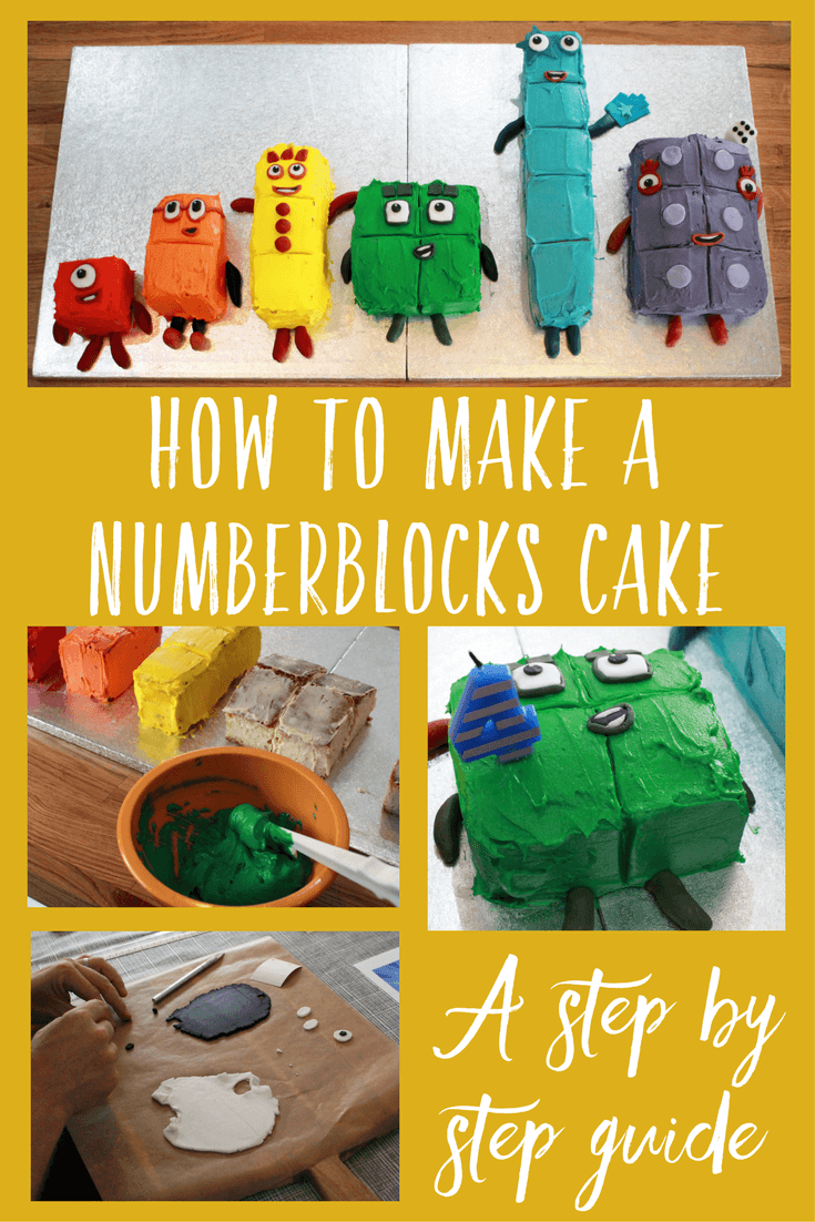 How to make a Numberblocks cake