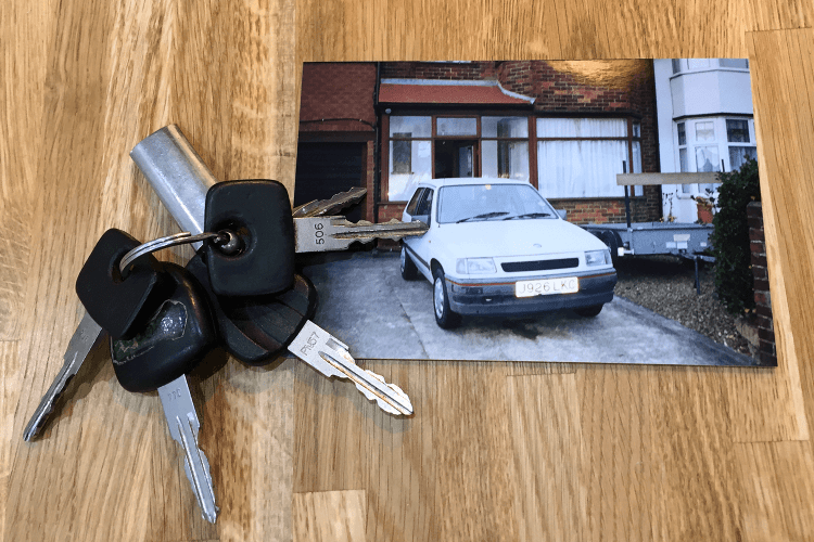 My first car with its four keys