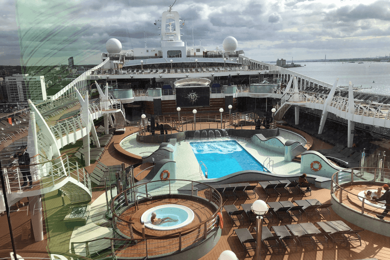 Outdoor pool on the MSC Preziosa