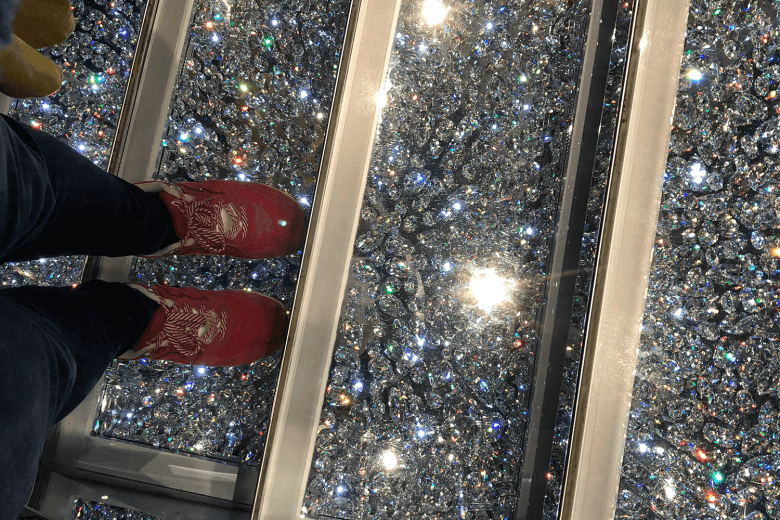 Sparkly stairs on the ship