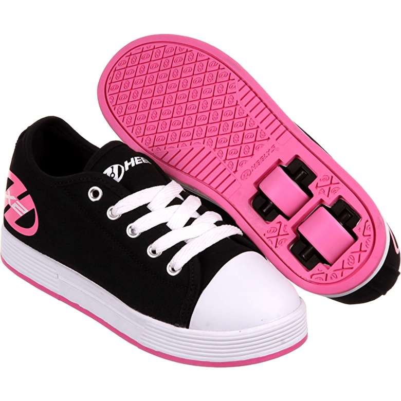 Pink and black Heelys