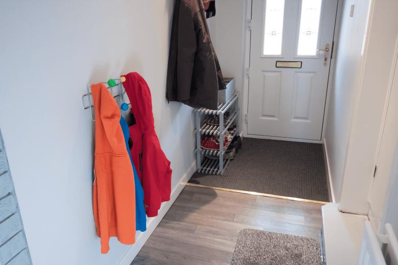 Hallway after towards the front door
