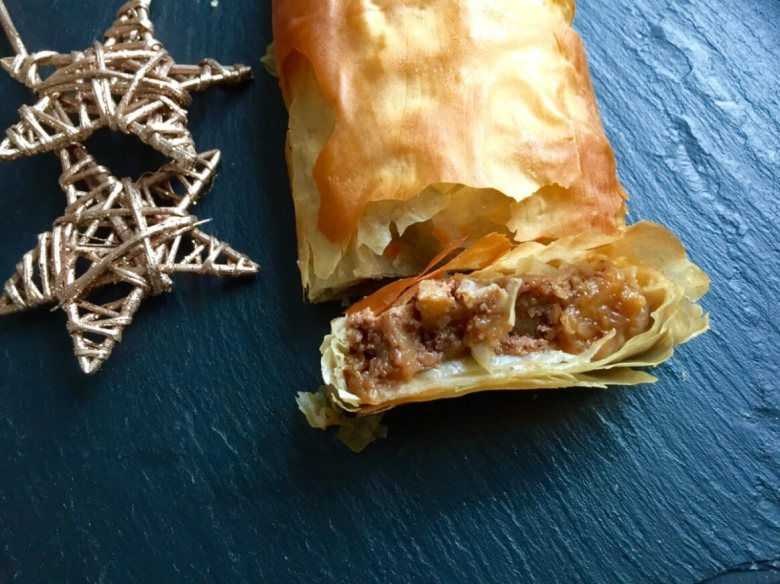 Apple and walnut strudel from Captain Bobcat