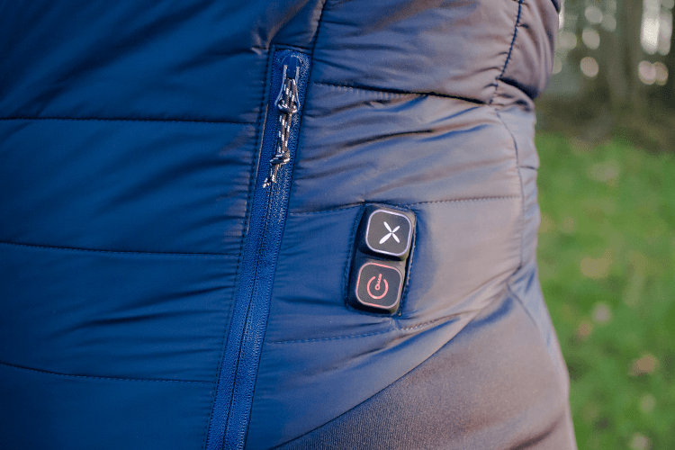 Control buttons for 8K Flexwarm heated jacket