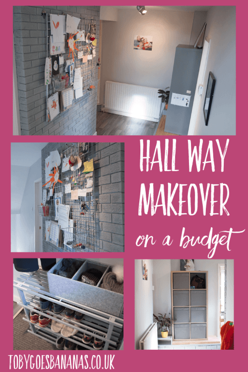 Hall way makeover on a budget - see how we decorated our three storey hall and stairs on a budget #interiors #scandistyle #greyhallway