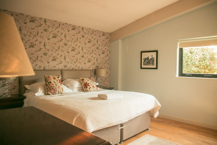 The master bedroom in our lodge at Brompton Lakes