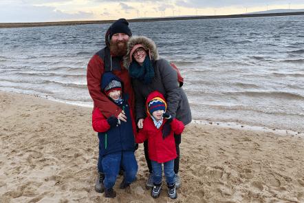 Me & Mine February 2019 - family portrait at Gaddings Dam