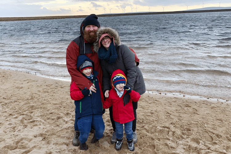Me & Mine February 2019 - family portrait at Gaddings Dam