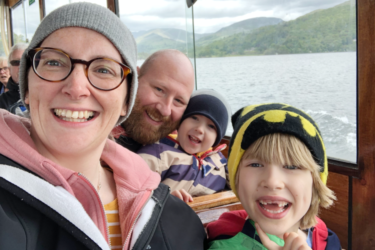 On the boat across Windermere