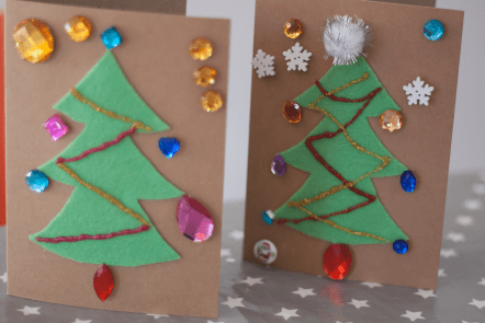 Christmas Tree Christmas card craft