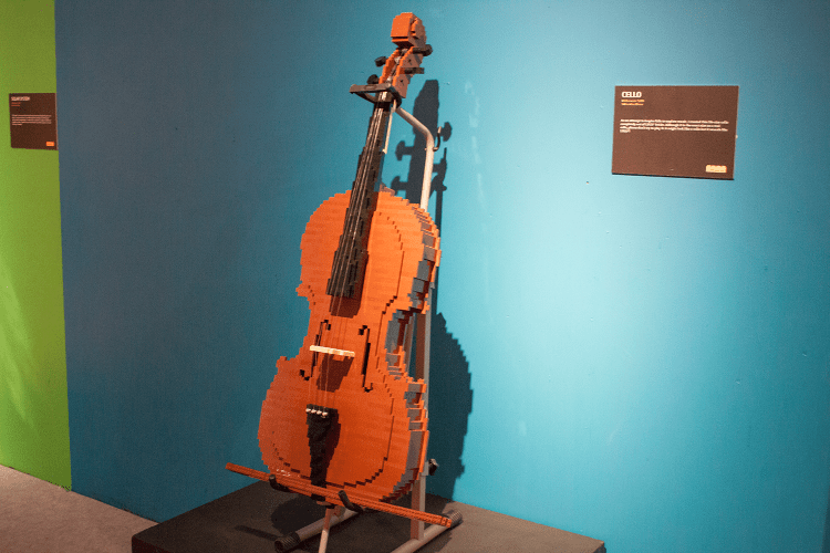 Lego cello at The Art of the Brick
