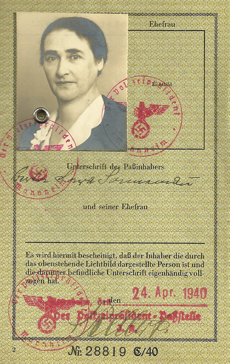 Oma's 1940 passport from Germany