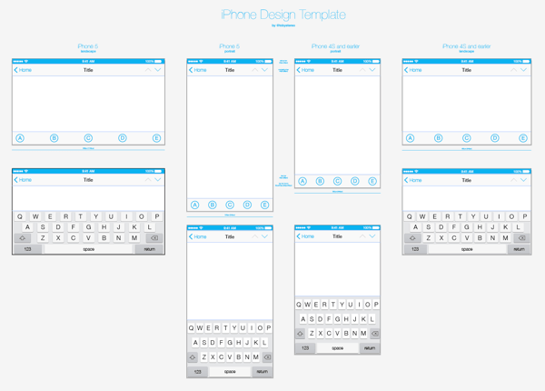 FREE iOS7 iPhone Design Template | TOBYSTEREO