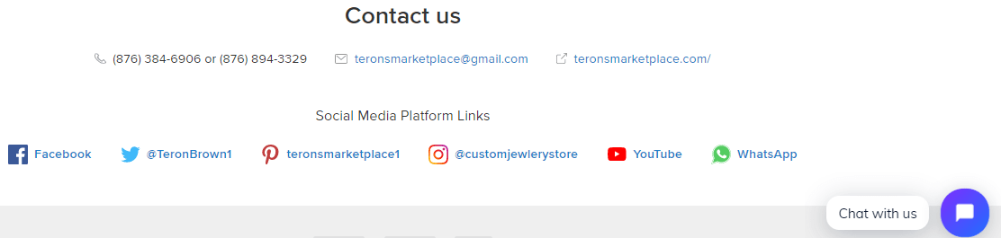 terons marketplace whatsapp button