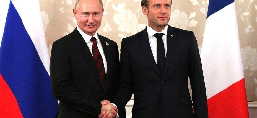 Путин и Макрон, фото - пресс-служба Кремля