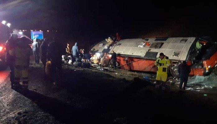 В Липецкой области произошло крупное ДТП с рейсовым автобусом