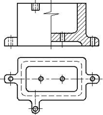 Рисунок 20 - Примеры совмещения части вида и разреза