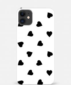 Big Black Hearts iPhone 12 Mini Mobile Cover