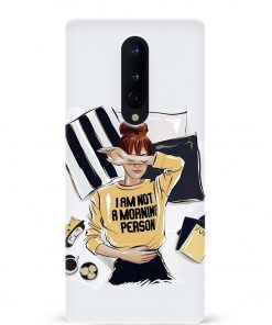 Morning Person Oneplus 8 Mobile Cover