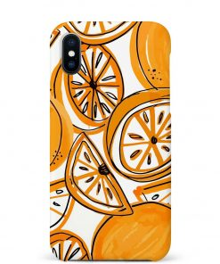 Orange Doodle iPhone Xs Max Mobile Cover