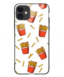 Fries iPhone 12 Glass Case Cover