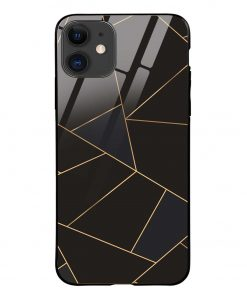 Golden Lines iPhone 12 Glass Case Cover