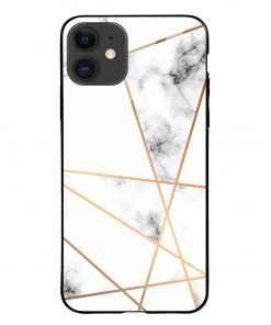 Marble Line iPhone 12 Glass Case Cover
