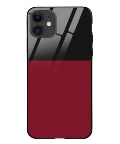 Red Black iPhone 12 Glass Case Cover
