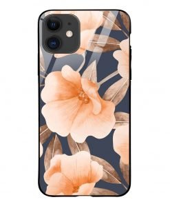 Watercolor Floral iPhone 12 Glass Case Cover