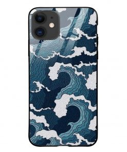 Waves iPhone 12 Glass Case Cover