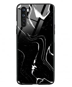 Black Marble Oneplus Nord Glass Case Cover