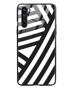 Cross Stripes Oneplus Nord Glass Case Cover