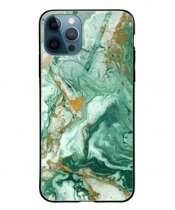Green Paint iPhone 12 Pro Max Glass Case Cover