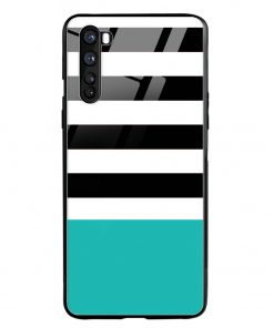 Half Stripes Oneplus Nord Glass Case Cover