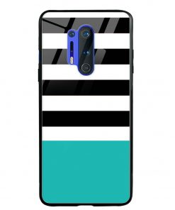 Half Stripes Oneplus 8 Pro Glass Case Cover