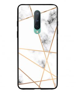 Marble Line Oneplus 8 Glass Case Cover