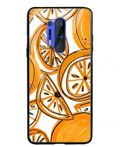 Orange Doodle Oneplus 8 Pro Glass Case Cover