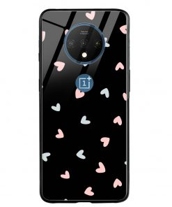 Pastel Hearts Oneplus 7T Glass Case Cover
