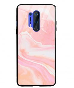 Pink Abstract Oneplus 8 Pro Glass Case Cover