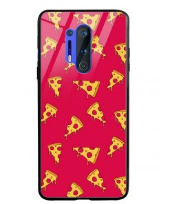 Pizza Pattern Oneplus 8 Pro Glass Case Cover