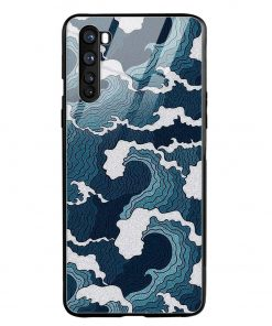 Waves Oneplus Nord Glass Case Cover